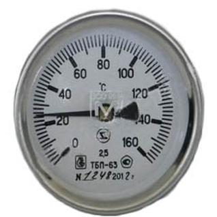 Термометр биметаллический ТБП63/50/Т-(0-160)С 2020г ЗТП