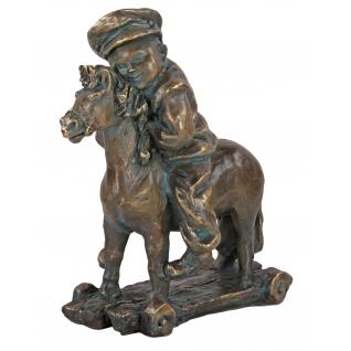 Статуэтка «Мальчик на лошадке» (декоративная скульптура)(Античная бронза)