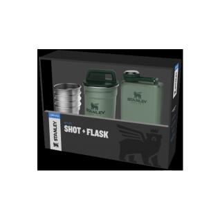 Зеленый набор стопок STANLEY Adventure 0,59L + Фляга 0,23L 10-01883-034