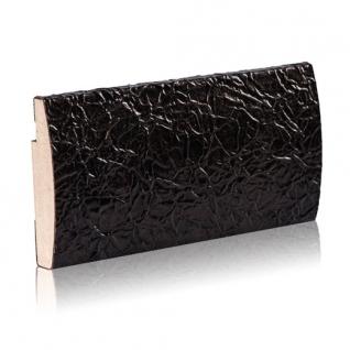 Декоративный профиль кожаный ЭЛЕГАНТ Foil 70 мм (сталь, золото, шоколад)