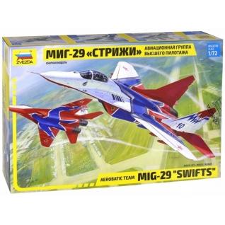 """Сборная модель истребителя """"МиГ-29"""" - Стрижи, 1:72 Звезда"""