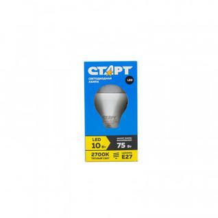 Лампа светодиодная Старт 10W Е27 2700k тепл-бел. станд. колба