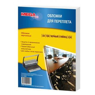 Обложки для переплета картонные Promega office чер.глянА4,250г/м2,100шт/уп.