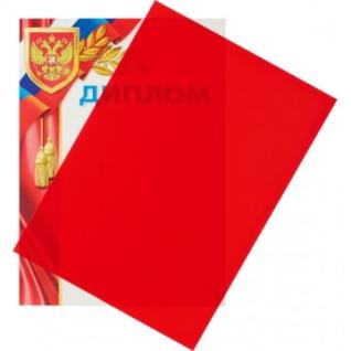 Обложки для переплета пластиковые Promega office крас.,А4,280мкм,100шт/уп.
