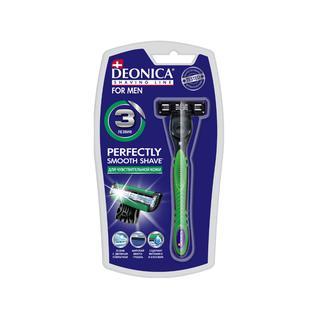 Станок бритвенный со сменной кассетой 3 лезвия, DEONICA FOR MEN