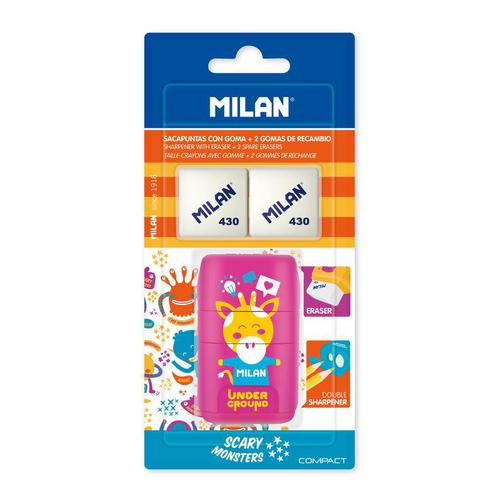 Ластик -точилка Milan Compact UNDERGROUND, блистер BYM10381 +2 ластика (ДС) 42471032 1