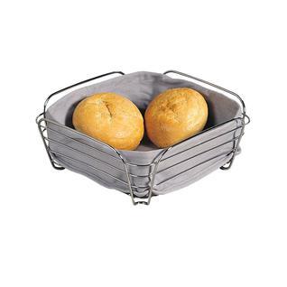 Корзина для хлеба со съемной подкладкой KESPER 25 х 25 х 10 см, серый