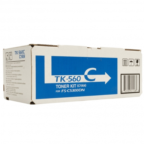 Совместимый тонер-картридж TK-560C для Kyocera Mita FS-C5300DN (голубой, 10000 стр.) с чипом 4534-01 Smart Graphics 851344