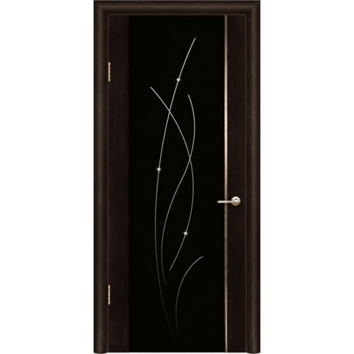 Дверь ульяновская шпонированная Астарта со стеклом триплекс 49375 3