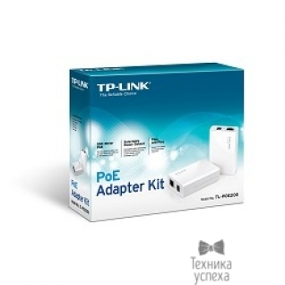 TP-Link SMB TP-Link TL-PoE200 Набор PoE адаптеров, инжектор+сплиттер, до 100м SMB