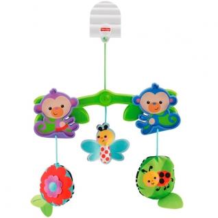"""Мобили для малышей Mattel Fisher-Price Mattel Fisher-Price BHW59 Фишер Прайс Мобиль для коляски """"Веселые друзья"""""""