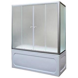 Шторка для ванны 1MarKa 150х140 TS (хром, прозрачная)