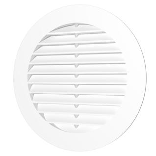 Решётка вентиляционная круглая ERA 16РКС с пластиковой сеткой и фланцем