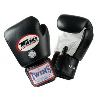 Twins Special Перчатки боксерские Twins BGVL-3, 10 унций, Черный-белый