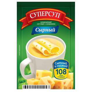 """Русский продукт Суперсуп-пюре Суперсытный момент. """"Сырный с сухариками"""" 26,5г"""