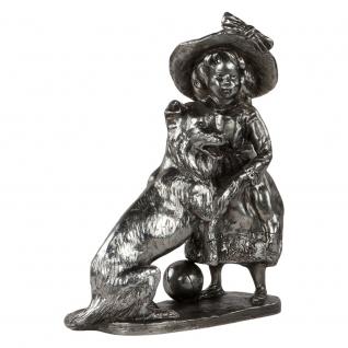 Статуэтка «Играющая Колет» (декоративная скульптура) (Античное серебро)