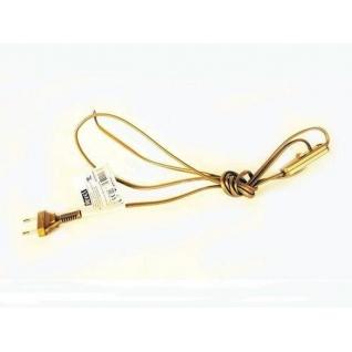 Шнур с электровилкой и выключателем Золото ZAMEL 1.9м