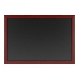 Доска меловая магнитная черная 600х900, дерев.коричн.рама