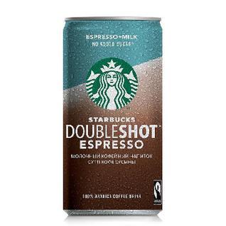 Кофейный напиток мол.стер.Starbucks Doubleshot Espres без сахара 2,6% 200мл