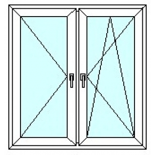 TEPLOWIN Двухстворчатое окно Тепловин Эстетик 500 с двумя створками