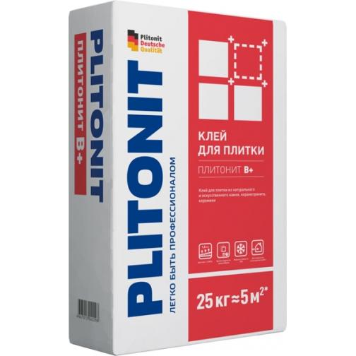 ПЛИТОНИТ В+ клей для керамогранита (25кг) / PLITONIT B+ клей керамогранита, камня и керамики (25кг) Плитонит 36984085