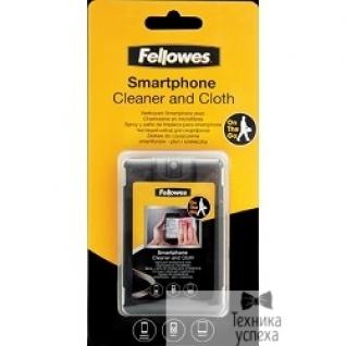 Fellowes Fellowes Чистящий набор для смартфонов FS-9910601 чистящий спрей для сенсорных экранов 20 мл, салфетка из микрофибры и плоский чехол для транспортировки