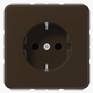 Розетка электрическая Jung CD1520BR SCHUKO 16A 250V~ с заземлением коричневая пластик