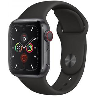 Часы Apple Watch Series 5 GPS + Cellular 44mm Space Black Stainless Steel with Black Sport Band MWW72, MWWK2