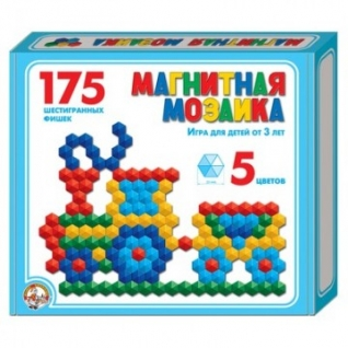 Мозаика,магнит,шестигранная,20/5цв/175шт, 230х200х35,00959