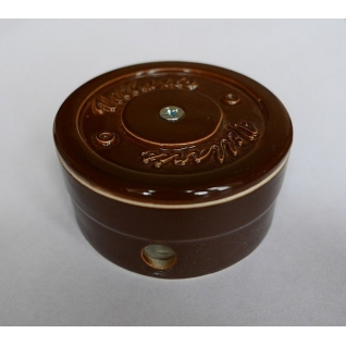 Распределительная коробка керамическая D70 H40 (коричневая)  NEW