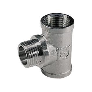Тройник VALTEC никелированный ДУ-15 ВР/НР/ВР
