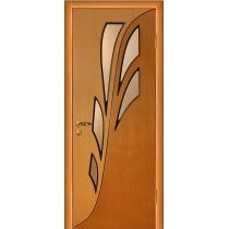 Дверное полотно МариаМ Орхидея ПУ лак остекленное 600-900 мм