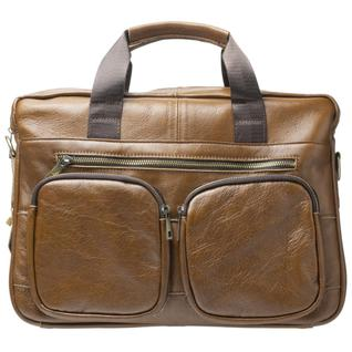 Портфель мужской GSMIN GL24 из натуральной кожи (Светло-коричневый)