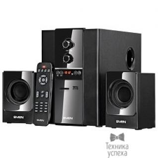 Sven SVEN MS-1820, черный RMS, 18Вт+2х11Вт, FM-тюнер, USB/SD, дисплей, ПДУ