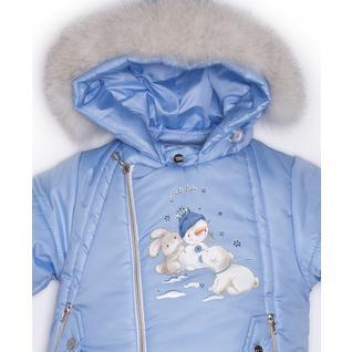 Комплект MalekBaby (Куртка + Полукомбинезон), С опушкой, Голубой арт.412ШМ/2