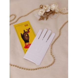 Перчатки свадебные №515, белый (сетка, закрытые)