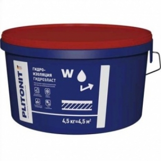 Гидроизоляция Плитонит ГидроЭласт /4,5 кг/