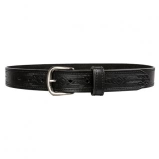 Ремень с орнаментом спереди 40 мм, цвет черный