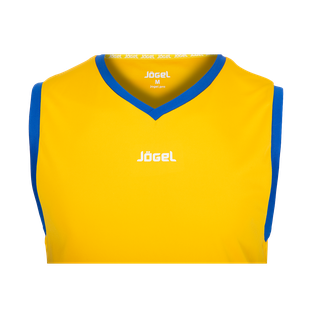 Майка баскетбольная Jögel Jbt-1020-tee-047, желтый/синий размер S