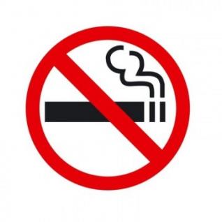 Знак безопасности P01 Запрещается курить приказ 214 (пластик 200х200)