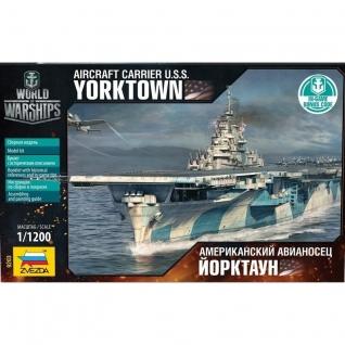 """Сборная модель World War Ships - Американский авианосец """"Йорктаун"""", 1:1200 Звезда"""