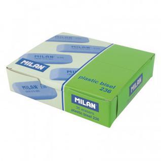 Ластик пластиковый Milan 236 скошенной формы, флюоресцентный, цв.в ассорт.