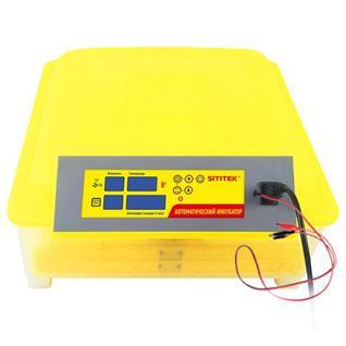 Бытовой инкубатор для 48 куриных яиц с контролем температуры, влажности и автоматическим переворотом SITITEK 48 с автономным питанием 12В 62562