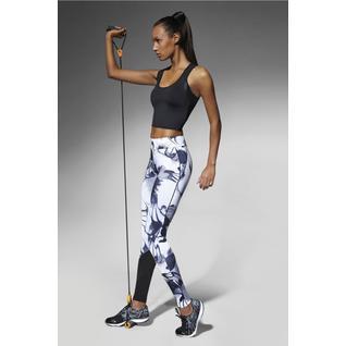 Легинсы для фитнеса Calypso белый с черным M Bas Bleu