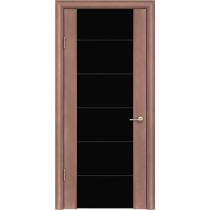 Дверь ульяновская шпонированная Кассандра со стеклом триплекс