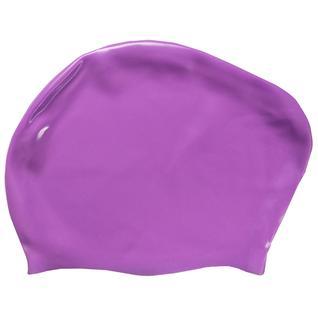 Шапочка для плавания силиконовая Dobest для длинных волос Kw30 (фиолетовый)