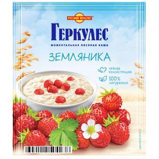 Русский продукт Овсяная каша момент Геркулес с земляникой 35г
