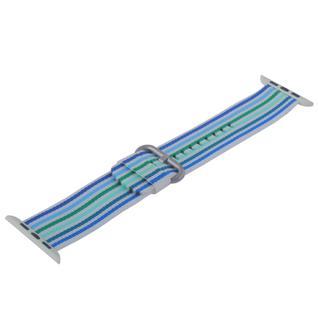 Ремешок COTEetCI W30 Nylon Rainbow Band (WH5251-WB-42) для Apple Watch 44мм/ 42мм Бело-Синий