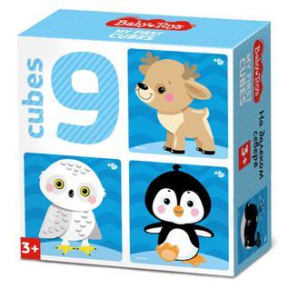 """Развивающие игрушки для малышей Десятое Королевство BABY TOYS TD03535 Кубики """"На краю земли"""" (без обклейки), 9 шт"""