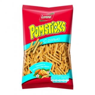 Снеки Картофельная соломка Pomstiks с солью, 100 г
